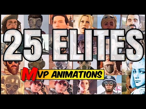 ALL 25 ELITE SKINS MVP ANIMATIONS - OFFICIAL RELEASED + ELA! Rainbow Six Siege