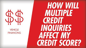How Will Multiple Credit Inquiries Affect My Credit Score?