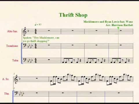 Thrift Shop for Low Brass and Alto Sax