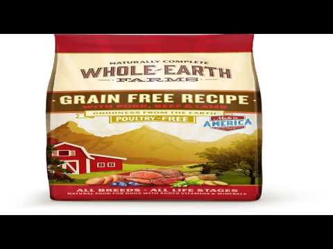 Whole Earth Farms Grain Free Recipe Dry Dog Food With Pork, Beef, and Lamb!
