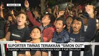 """Suporter Timnas Teriakkan """"Simon Out"""" Usai Laga Indonesia Vs Vietnam"""