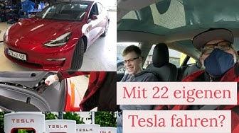 Justin (22) fährt sein nagelneues Tesla Model 3! Wie geht das? Check
