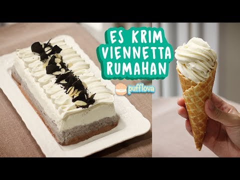 MEMBUAT ICE CREAM VIENNETTA RUMAHAN | ICE CREAM CAKE RECIPE