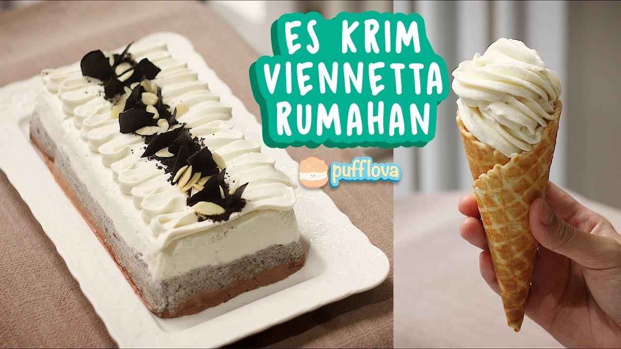 Membuat Ice Cream Viennetta Rumahan Ice Cream Cake Recipe Youtube