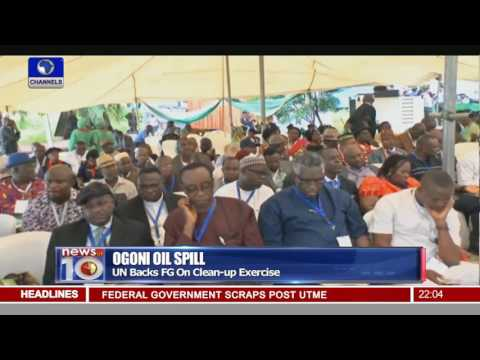 News@10: FG Formally Launches Ogoni Land Clean Up Exercise 02/06/16 Pt.1