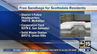 Scottsdale offering free sand bags after recent storms