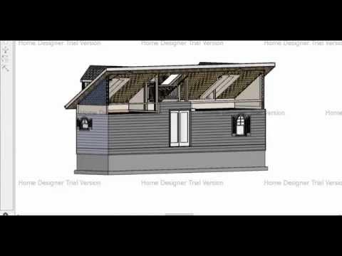 Tiny House Plan for family of 3 using Home Designer Pro 2016