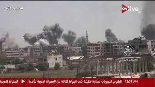 الدفاع الجوي السوري يتصدى لهجوم صاروخي علي مطار الضبعة قرب حمص