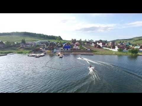 Деревня Парная, озеро Большое с квадрокоптера.  Лепота!