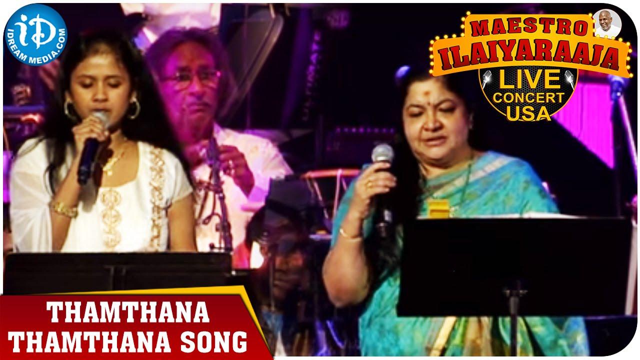 Maestro Ilaiyaraaja Live Concert - Thamthana Thamthana Song - Chitra    San  Jose, Califonia
