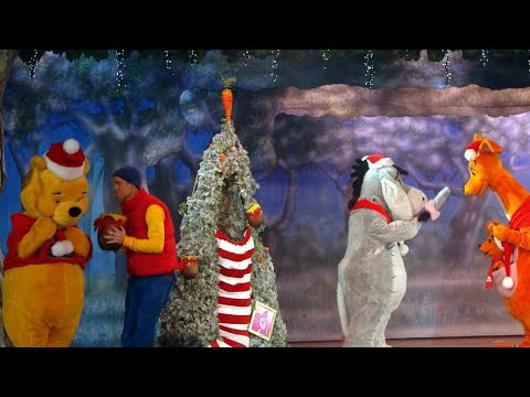 winnie the pooh christmas too disneyland paris fantasyland festival stage winnie the pooh friend
