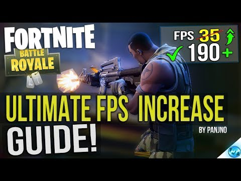🔧 FORTNITE Battle Royale: Dramatically increase performance / FPS with any setup! Lag drop fix