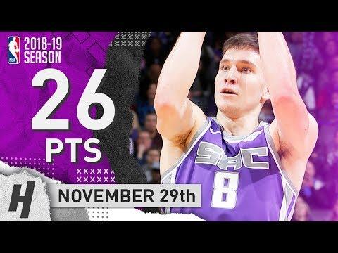 Bogdan Bogdanovic Full Highlights Kings vs Clippers 2018.11.29 - 26 Points!