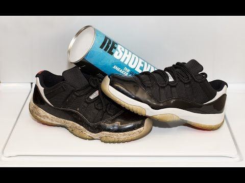How to deep clean dirty Jordan 11 Infrared lows with Reshoevn8r