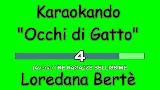 Karaoke Italiano - Occhi di Gatto - Cristina D'Avena - Loredana Bertè ( Testo )