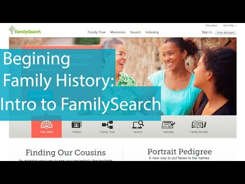 Introduction to FamilySearch Family Tree