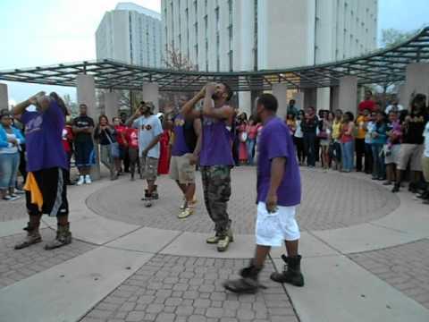 Omega Psi Phi Chant at NPHC Chant Off N.I.U.