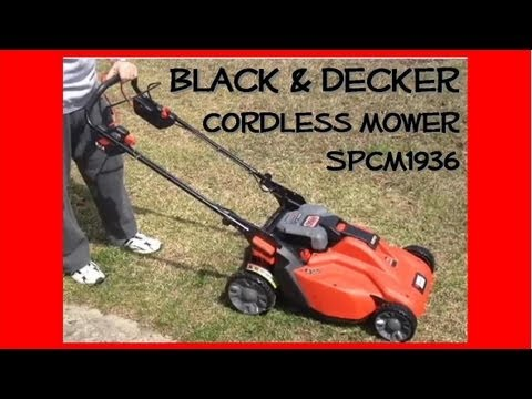 Black & Decker SPCM1936 Cordless Mower set-up and demonstration