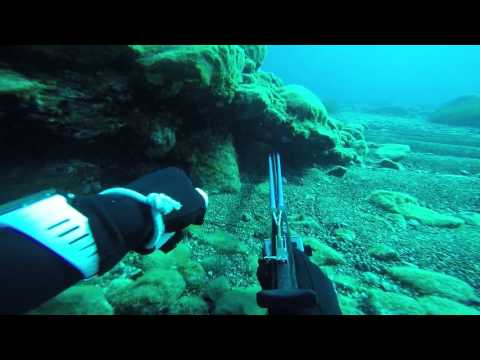 Spearfishing moments in Aegean Sea
