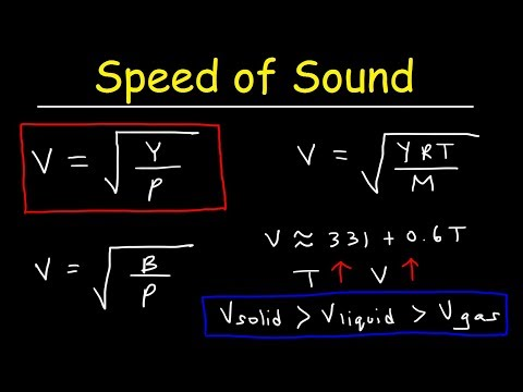 Speed of Sound in Solids, Liquids, and Gases - Physics Practice Problems