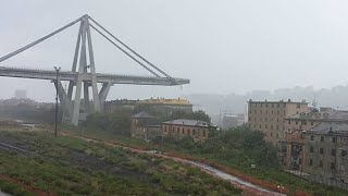 Italie : un viaduc d'autoroute s'effondre près de Gênes, plusieurs morts