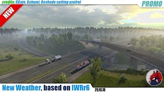 "[""Euro Truck Simulator 2"", ""mods"", ""modifications"", ""weather mod"", ""New weather"", ""based on IWRr6"", ""SGate"", ""Schumi"", ""axelrol""]"