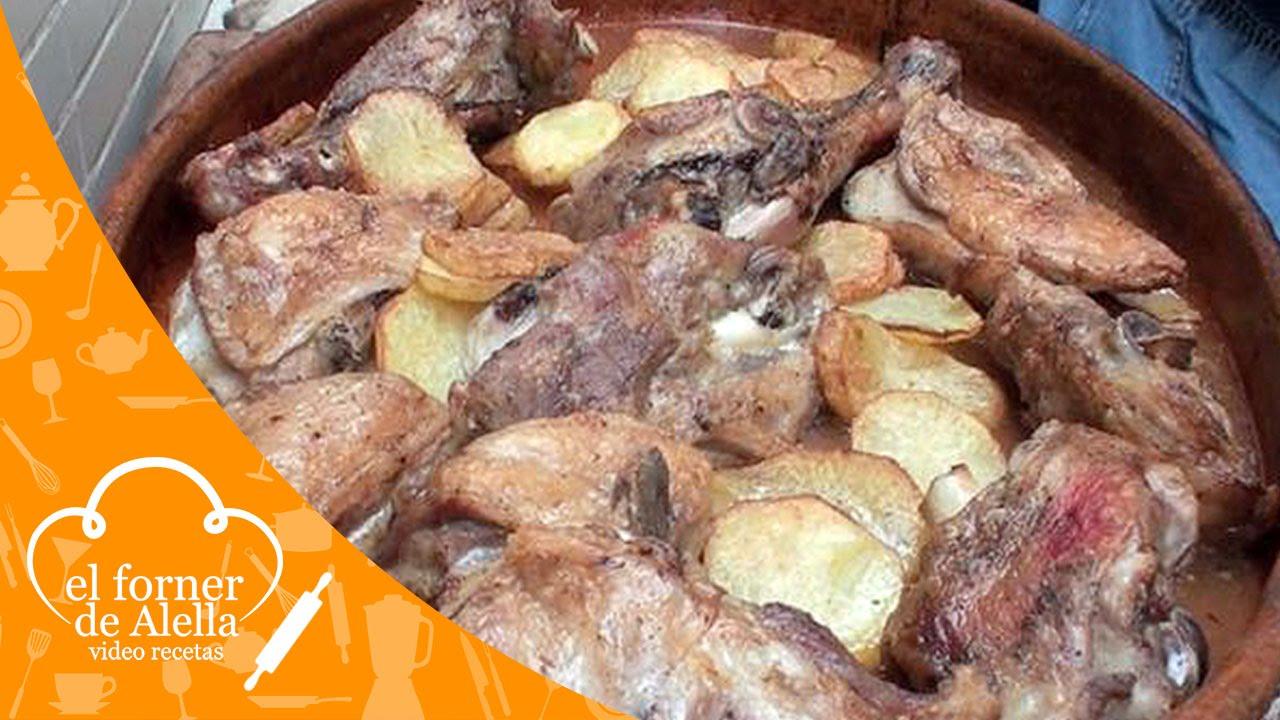 Paletilla de cordero asada al horno de le a youtube - Cocinar en horno de lena ...