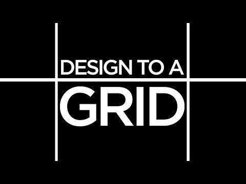 Graphic Design Tutorial: Designing to a grid.
