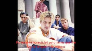 Don´t want you back (traducida)  -  BACKSTREET BOYS