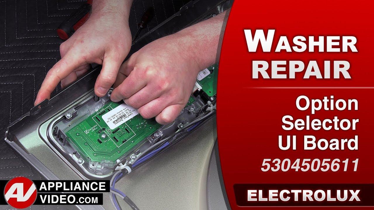 Electrolux Frigidare Diagnostic Repair Option Selector Ui Hard Disk User Interface Board