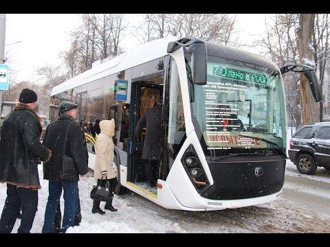 Тестовая поездка бесконтактного троллейбуса Адмирал в Ульяновске