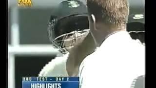 Rahul Dravid incredible dismissal vs Shaun Pollock 2001 02 2nd test1