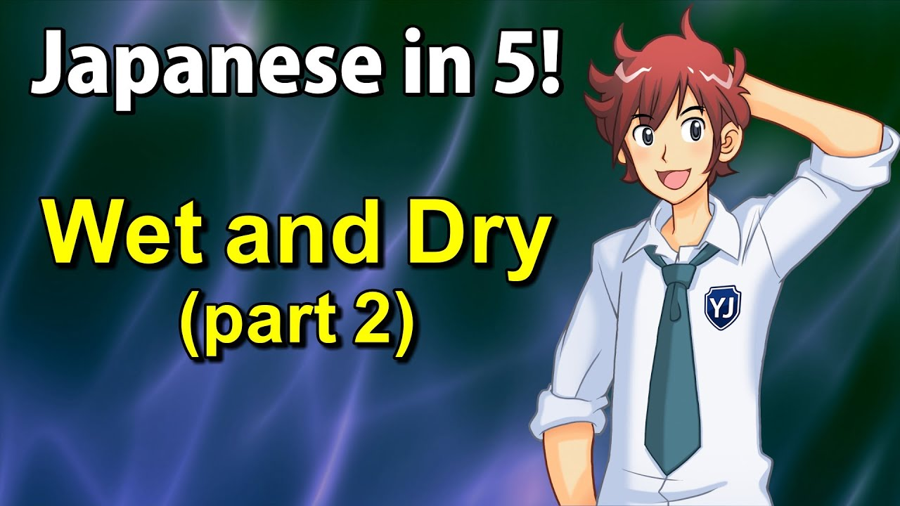 Japanese Wet and Dry - Japanese in 5! #24 Part 2