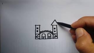 YAZARAK ÇİZ : KALE / wordtoon : castle