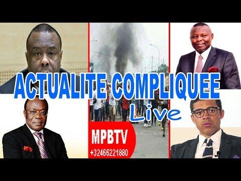 MPBTV Actualité compliquée live..Bemba- Kamerhe-Sindika-Ngbanda...Tous appellent au soulèvement