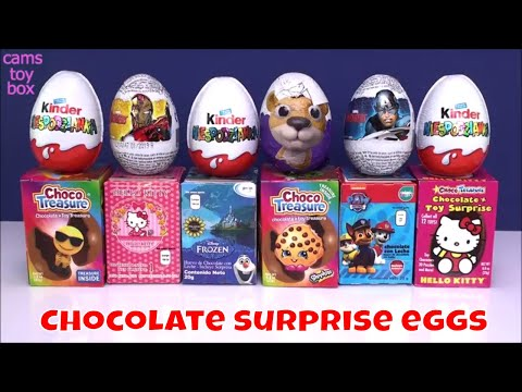 Kinder MAXI Chocolate Surprise Eggs Opening Hello Kitty Paw Patrol Disney