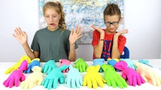 Don\'t Choose the Wrong Glove Slime Challenge!!!