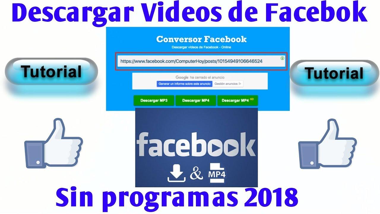 descargar videos de facebook android sin programas 2017