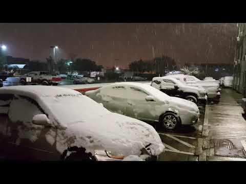 Snow in Beaumont Texas 12/08/17
