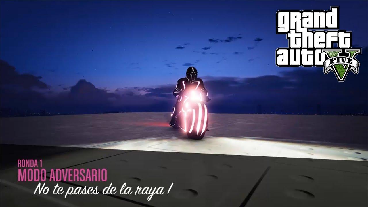 PARTIDAZA CON MOTOS DE TRON. MODO ADVERSARIO: NO TE PASES DE LA RAYA EN GTA ONLINE