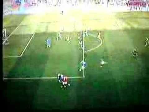 Louis Saha against Wigan