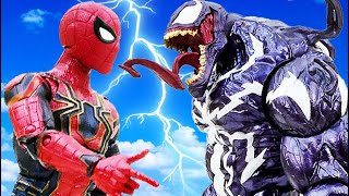 Marvel Super Hero Spider Man, Iron Man vs Venom Rescue The City~! Toys Play Time