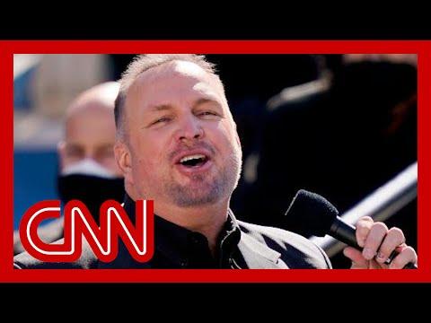 "Garth Brooks sings ""Amazing Grace"" at Biden's inaguration"
