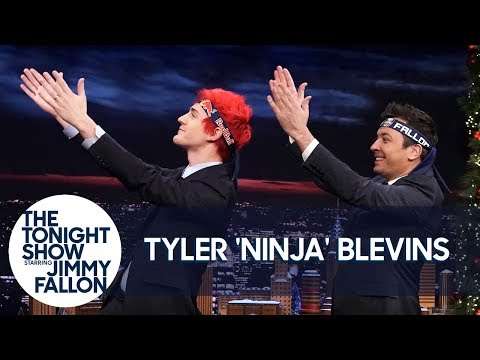 "Tyler ""Ninja"" Blevins Teaches Jimmy the Pon Pon Dance"