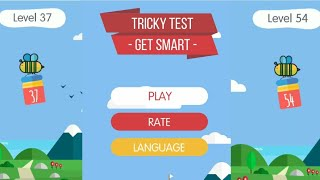 Tricky Test: Get Smart Solution Level 37 to 54| Best Trivia Games| APPS & GAME