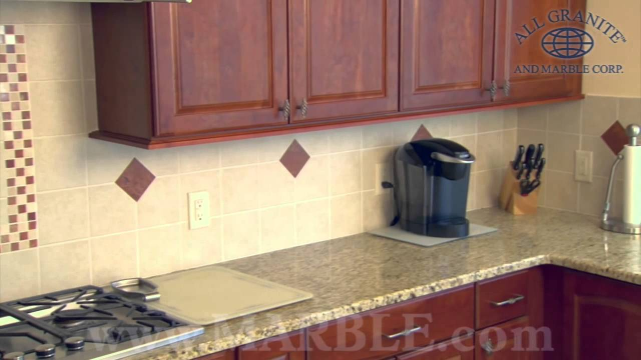 Giallo Ornamental Granite Kitchen Countertops Ii By Marble Com Youtube