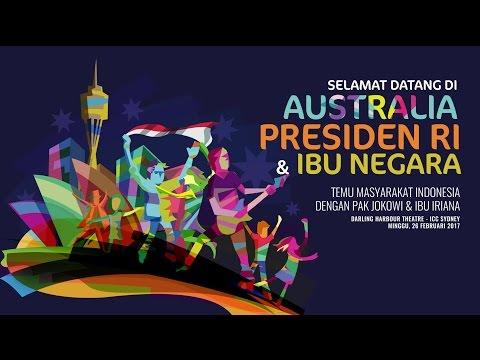 Temu Masyarakat Indonesia di Australia dengan Presiden Joko Widodo, Sydney 2017