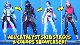 NEW CATALYST SKIN STAGES & COLORS SHOWCASED! Fortnite BR (ALL CATALYST SKIN STYLES) SEASON 10