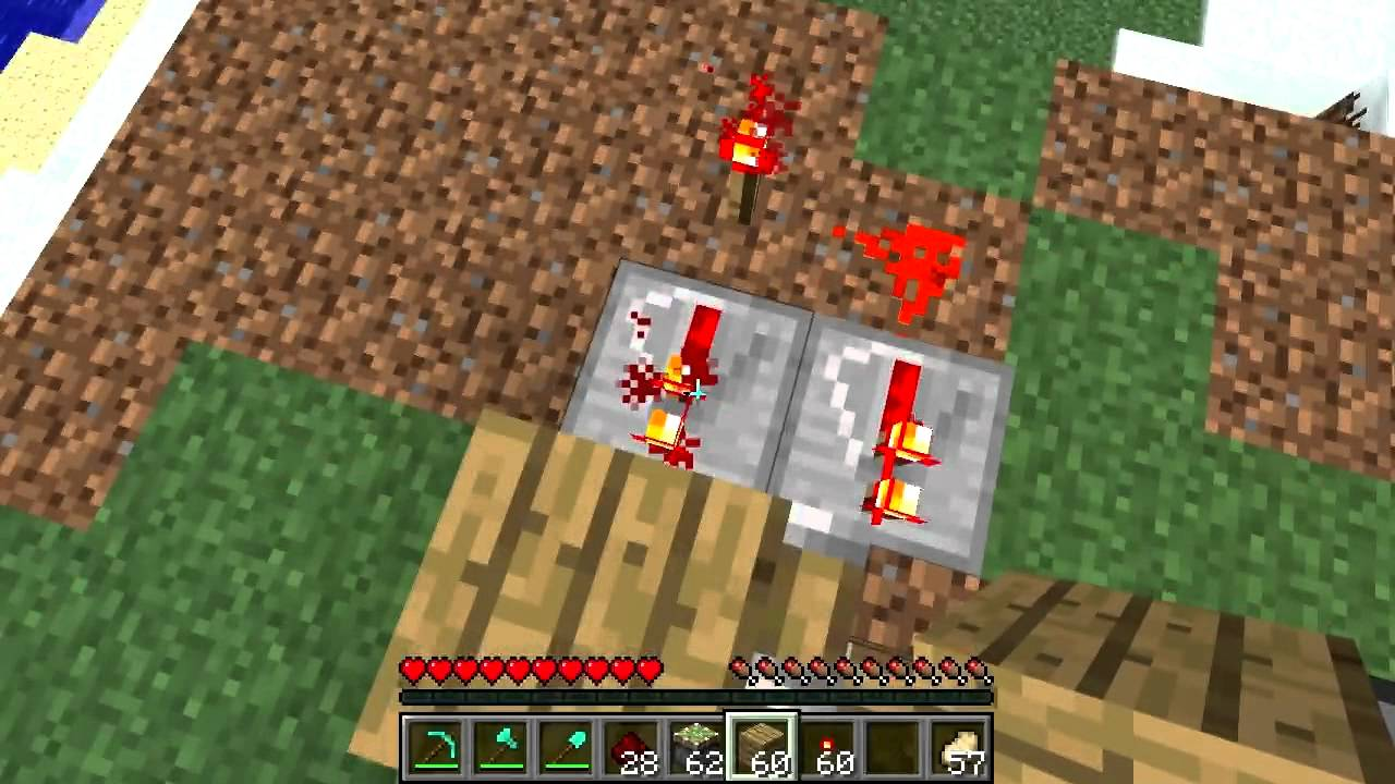 Minecraft How To Make Two Switches For One Door Piston Xor Gate Way Switch Redstone Youtube