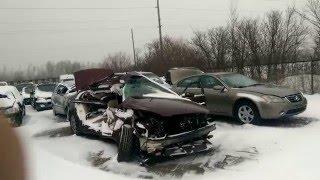 Badly Wrecked Buick at the Junk Yard